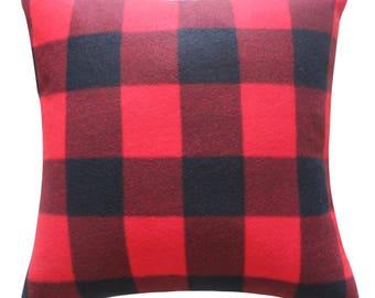 "Decorative Christmas pillow cover/ Velvet plaid cushion cover/ plaid pillow throw/pillow sham 18x18"""