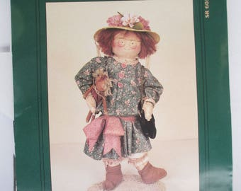 Sewing Pattern Specs Shingle Britchesrag Doll paper patten uncut My Sister and I diy 1991 used