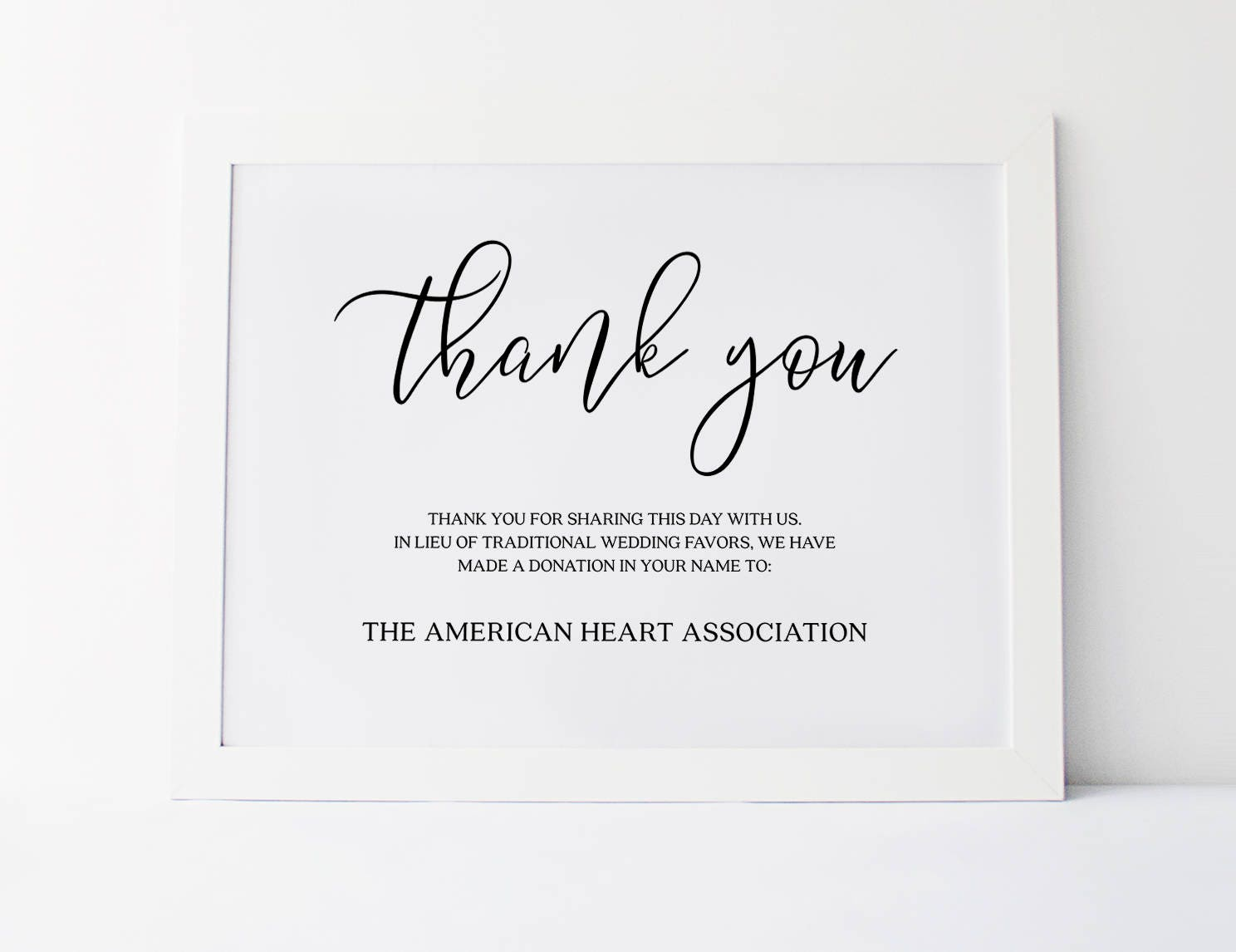 Wedding Favors Sign In Lieu Of Favors Sign Wedding Donation