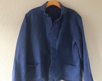 Royal Blue French Work Wear Jacket