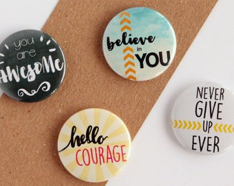 Inspirational Magnets, Motivational Magnet, Inspirational Quote, Magnet set, Back to School, Office Magnet, Stocking Filler, You are Awesome