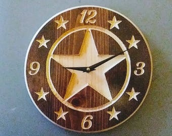 "9"" Star Wall Clock"