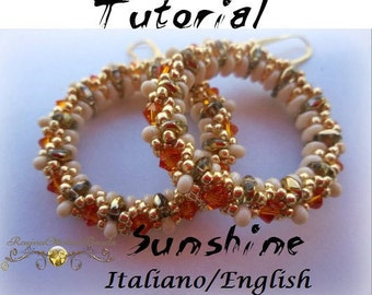 Earrings Sunshine (Tutorial graphics pictures in italiano and English)