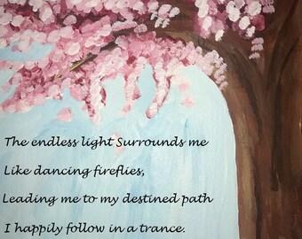 Digital print of my artwork with original poem
