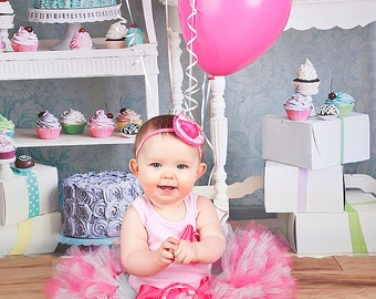 Mint and Pink Birthday Tutu Dress Outfit