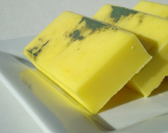 Cool Citrus Basil Soap, Green and Yellow Soap, Unisex Soap For Men and Women, Homemade Soap, Bar Soap