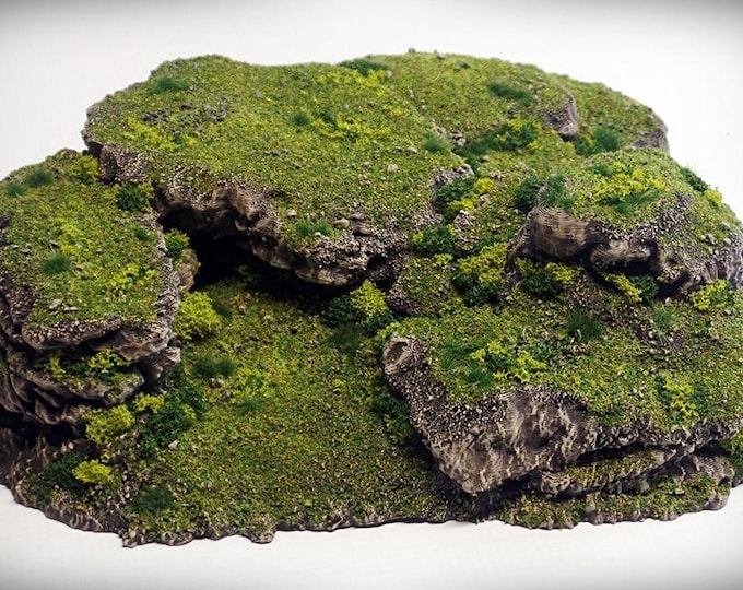 Wargame Terrain - Stacks – Miniature Wargaming & RPG rock formation terrain - 10x9.5x3.5 inches