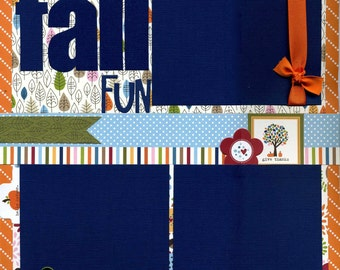 Fall Fun - 12x12 Premade Scrapbook Page