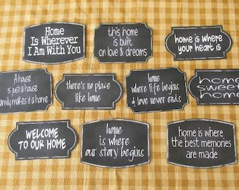 Home Chalkboard Style Sticky Labels