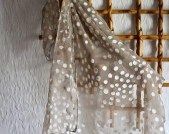 Delicate Dove Gray Scarf or Kerchief