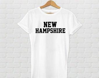 New Hampshire Varsity Style T-Shirt - White