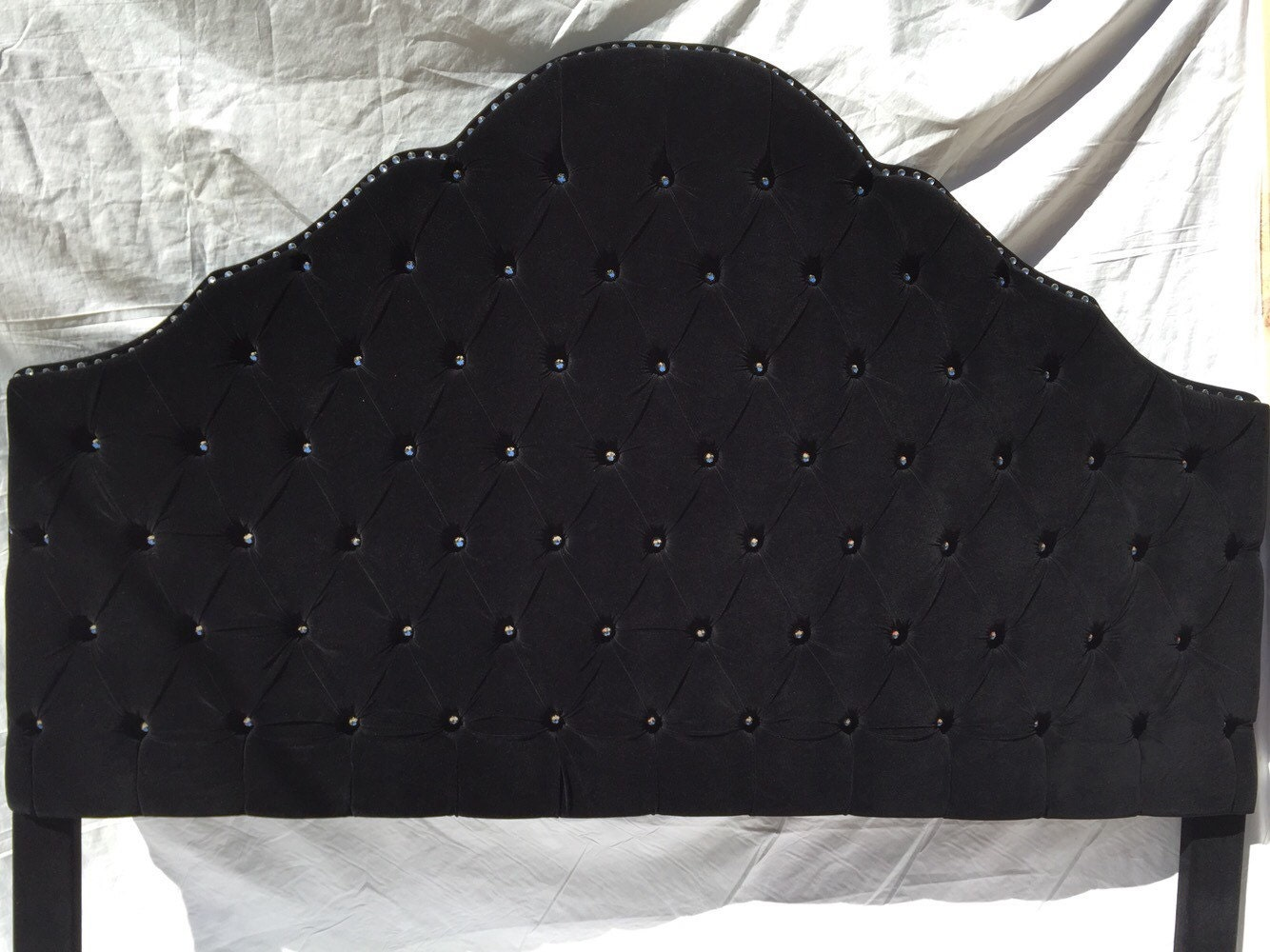 full diamond black headboard navy velvet tufted blue of headboards