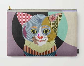 Cat Pouch, Cat Lover Gifts, Cat Wallet, Pet Pouch, Pet Gifts, Zipper Bag Purse,  Cat Zipper Pouch, Coin purse, change purse, Cat Purse