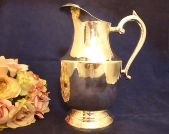 Silverplate EPNS Pitcher with Ice Guard - Lovely