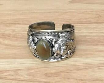 Brownstone Cuff Bracelet