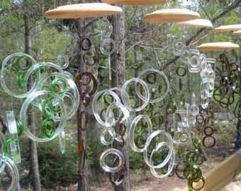 WHSL ORDER #2 , windchimes, eco friendly and green, wind chime, garden decor, mobiles, handmade, glass wind chimes
