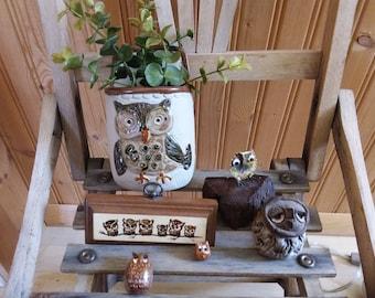 Set of owls 1970s