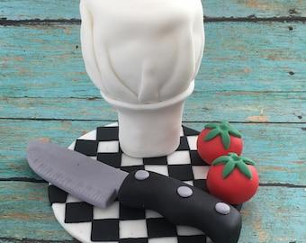 Chef fondant cake topper