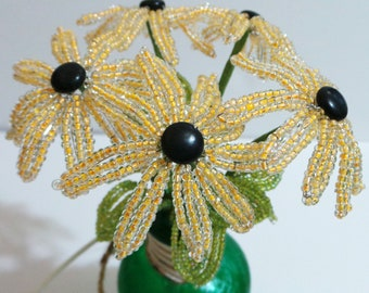 Beaded Flowers Black Eyed Susan