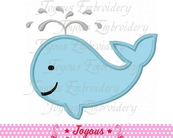 Instant Download Whale Applique Machine Embroidery Design NO:2465