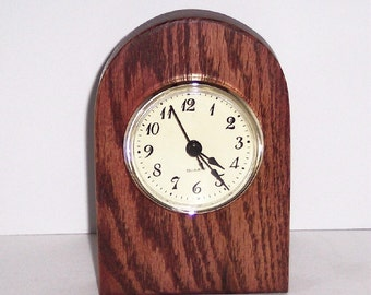 Desk Clock With a Quartz Movement.