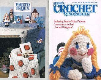 Nov-Dec 1987 Annie's Crochet Newsletter #30 - Dog Crochet Patterns - Doll Crochet Pattern - Lace Collar Crochet Pattern - Not A PDF