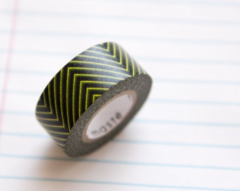 Masking tape, washi tape noir/jaune Masté MT 15mm x 7m