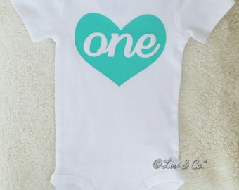 One Year Old Girl Birthday Outfit, Girl First Birthday Outfit, 1st Birthday Shirt, Mint 1st Birthday Girl Outfit, Girl Clothes, ©Liv & Co.™