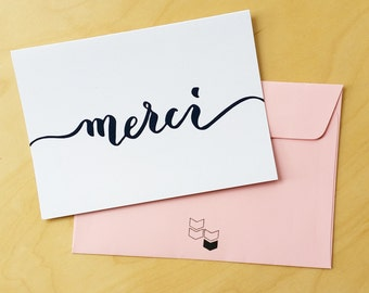 Merci - Thank You Card in French