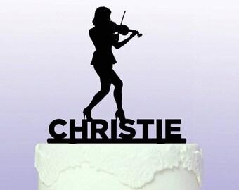 Violinist (female) Cake Topper