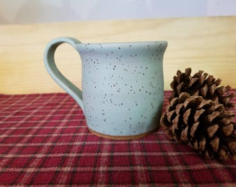 Icy turquoise coffee mug, pottery coffee mug,  pottery coffee cup, coffee cup, ceramic mug, ceramic coffee cup, pottery mug