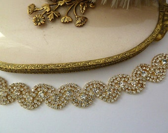 WEDDING GOLD HEADBAND, Bridal Headpiece, Wedding Headpiece, Gold Headpiece