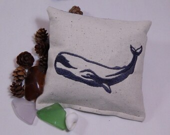 Whale Balsam Sachet, Personalize Sachet, Nautical, Maine Balsam Fir, Made in Maine, Ocean Theme