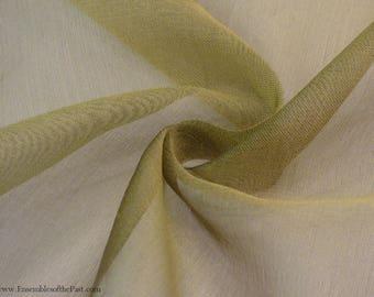 "Olive Silk Organza Fabric - Solid Sheer True Dark Olive Green - by the yard - 100% Silk - 45"" Wide - EP Silk #152"