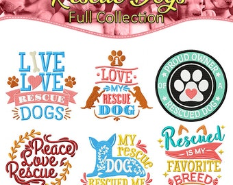 Machine Embroidery Designs  - Rescue Dogs Collection of 6