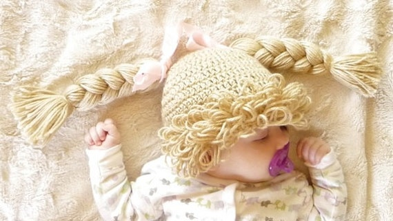 Cabbage Patch Hat Crochet Pattern Cabbage Patch Wig Cabbage Patch