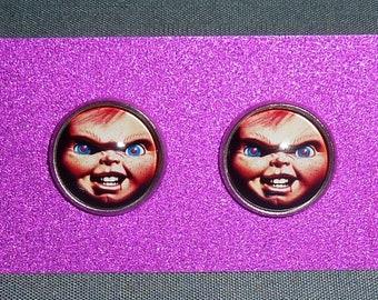 Child's Play Inspired Earrings / Horror Earrings / Chucky Earrings / Childs Play / Horror Jewelry / Brad Dourif / Good Guy Doll / Chucky