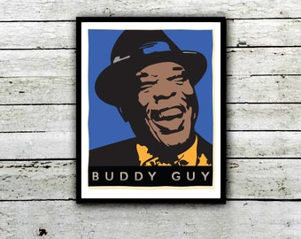 Buddy Guy , Damn Right I've Got the Blues, Chicago  Blues Legend Poster