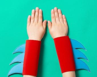 superhero wristbands... brights