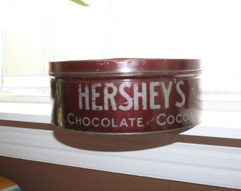 Vintage 1930s Tin Hersheys Chocolate and Cocoa Large