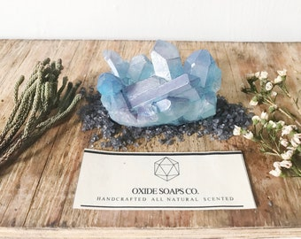 Large Turquoise Blue Crystal Quartz Soap