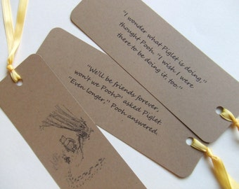 Friends Forever - Winnie the Pooh Quotes - Classic Pooh and Piglet Bookmark Gift Set