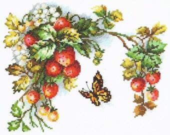 Cross Stitch Kit Sweet fruits