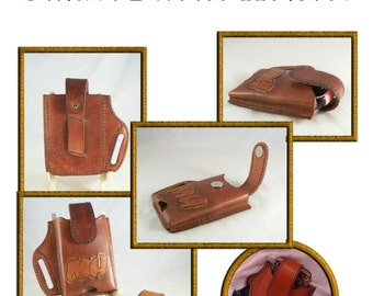 PATTERN - Smart Phone Holster pattern for leather- leathercraft pattern - PDF ONLY