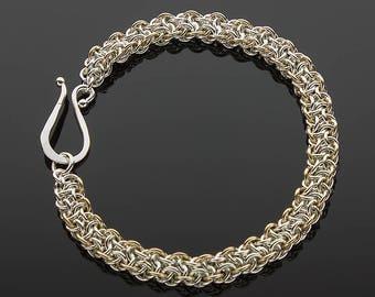 Handmade Two-Tone Vipera Berus Chainmaille Bracelet