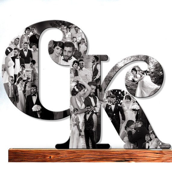 Custom Photo Collage Wedding photos Collage Wooden Letter