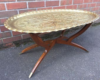 Stunning Brass Top Spider Base Coffee Lounge Table