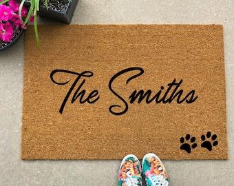 Lovely Custom Door Mat, Personalized Doormat, Door Mat, Doormat, Door Mat  Personalized,