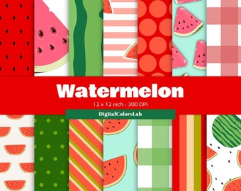 Watermelon seamless food, pettern decor, digital paper, food backdrops, food photography