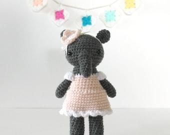 crochet animal, amigurumi doll, amigurumi elephant toy, crochet doll, kids toys, plush doll, stuffed plush, kawaii plushie, australia .. eva
